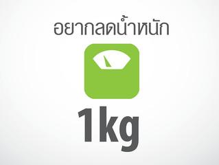 อยากลดน้ำหนัก 1 kg ต้องทำอย่างไร
