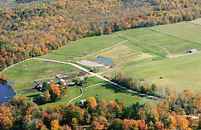 Aerial photo of the Duck Harbor Equestrian Center