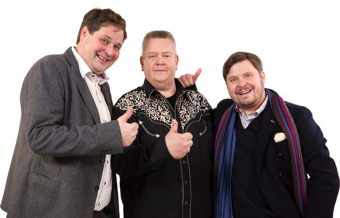 Ensimmäinen yhteinen ohjelma: Jethro Rostedt, Aki Palsanmäki ja Janne Kataja hierovat kauppoja Hyvät