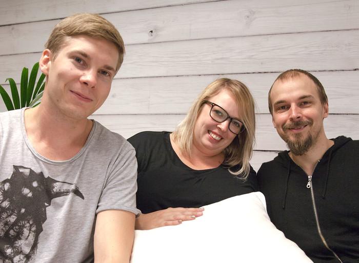 Laura Ahola, Jori Heikkinen ja Petteri Laine Aito Mediaan