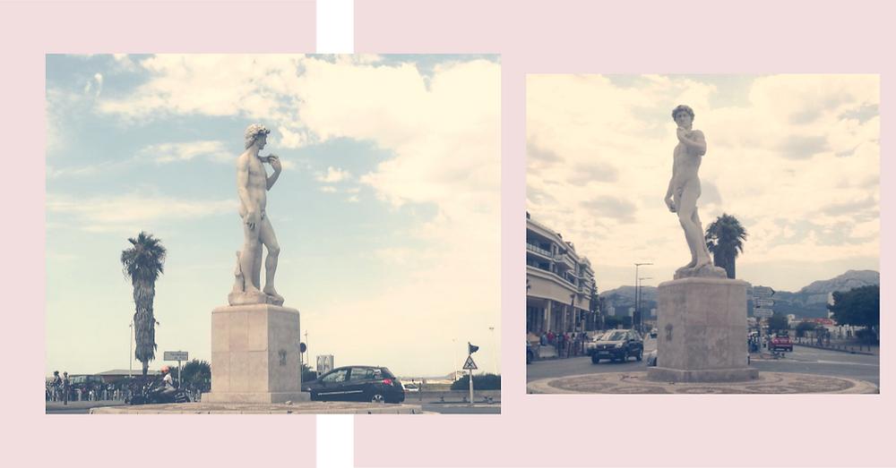 Statue David Plage Prado Marseille