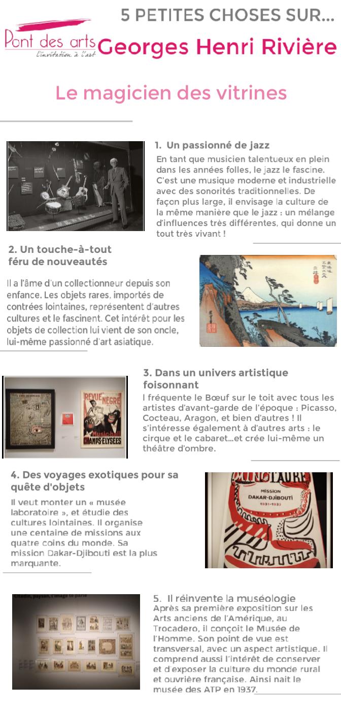 exposition Georges Henri Rivière Pont des arts