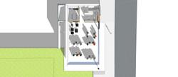 Vue 3D du rez-de-chaussée