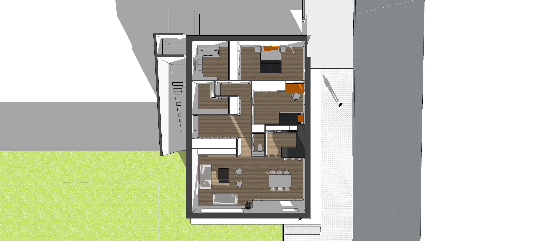 Vue 3D de l'appartement