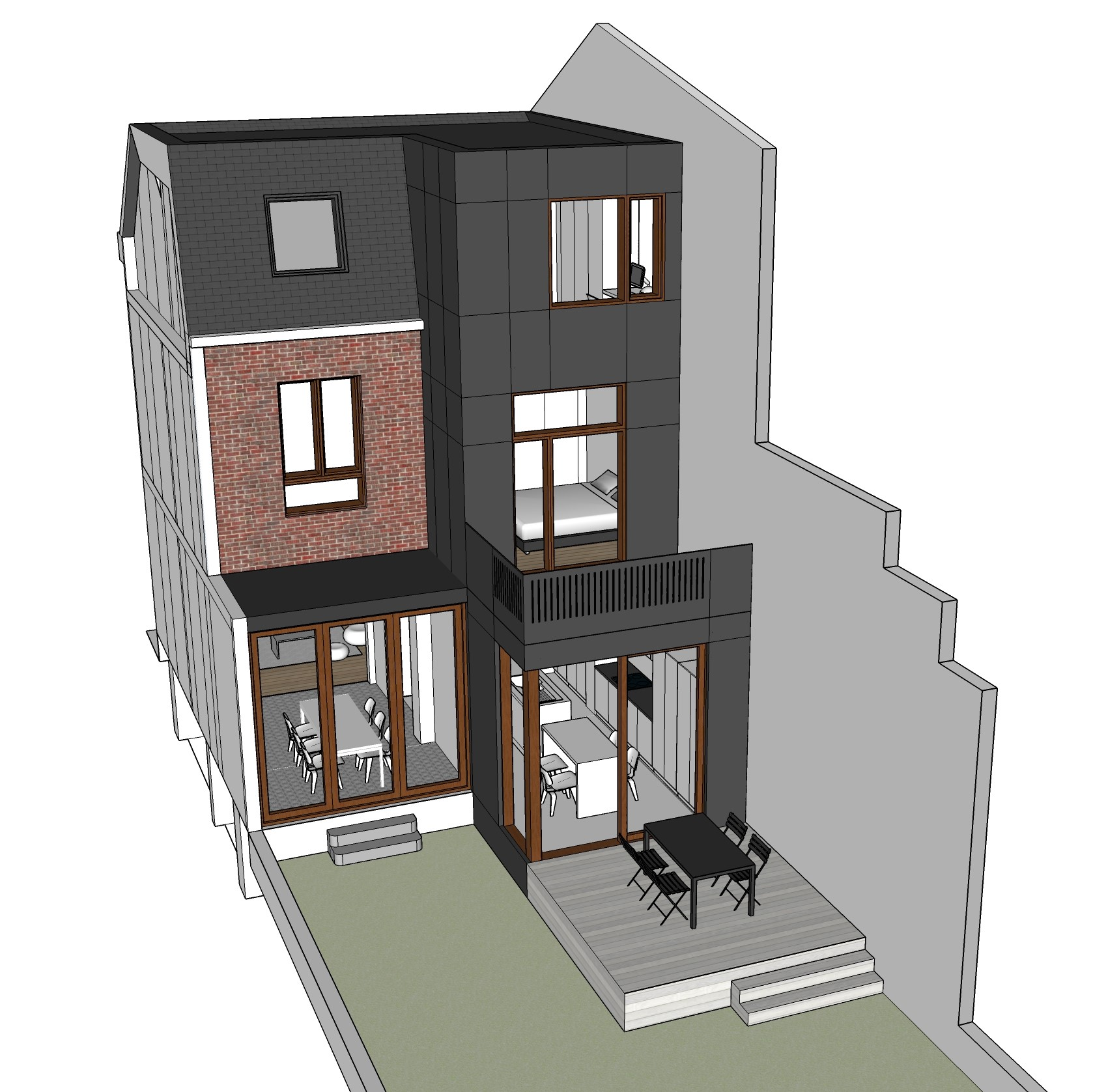 A064-Vue 3D façade arrière projetée