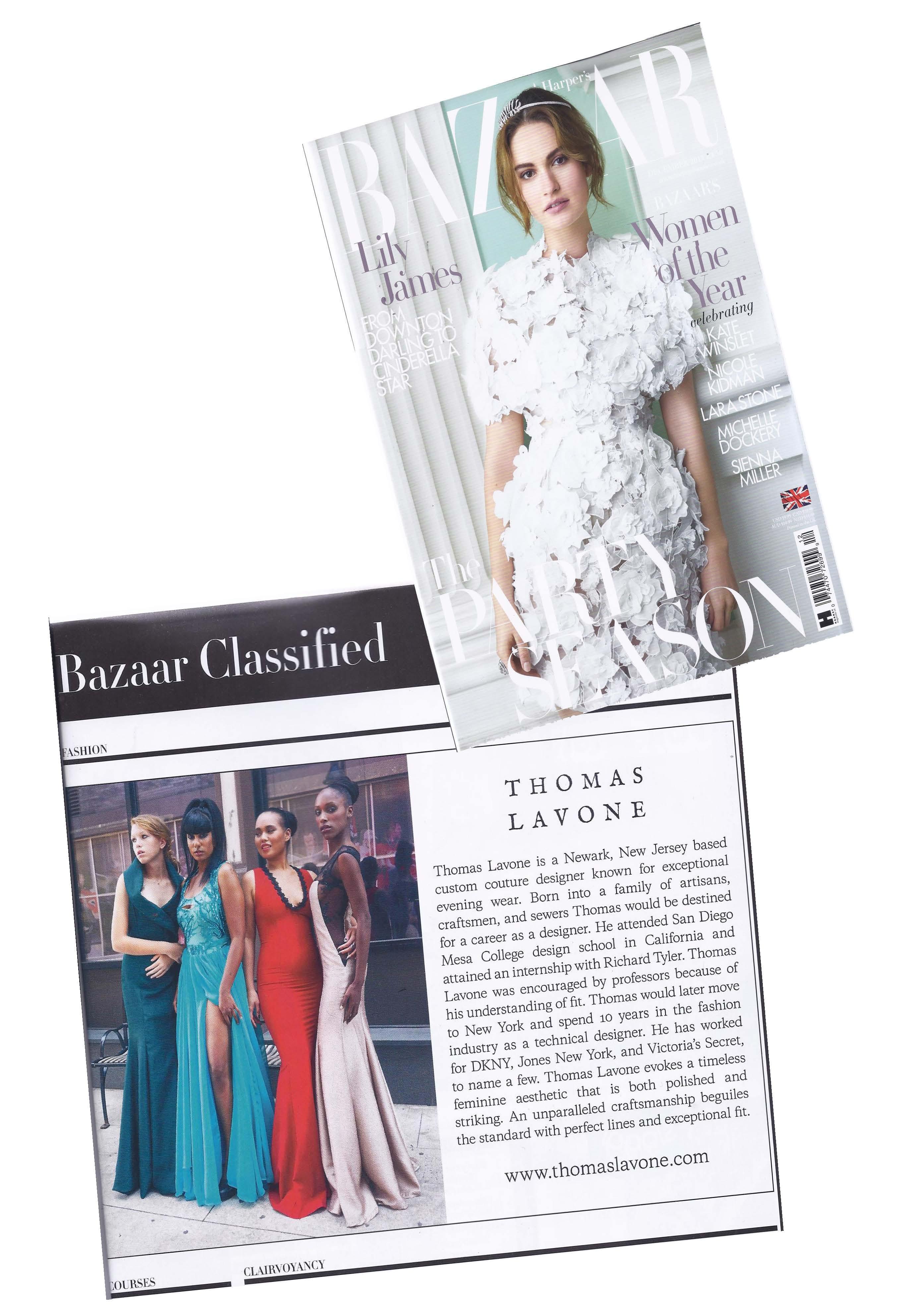 Harper Bazaar UK Dec 2015 cover