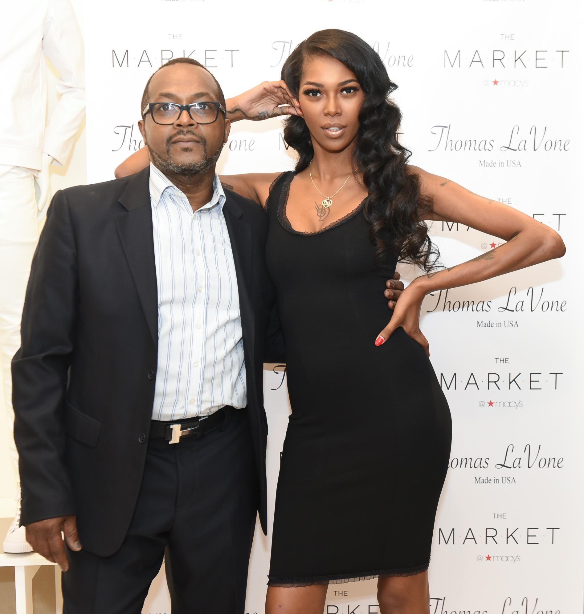 Model Jessica White and Thomas Lavone
