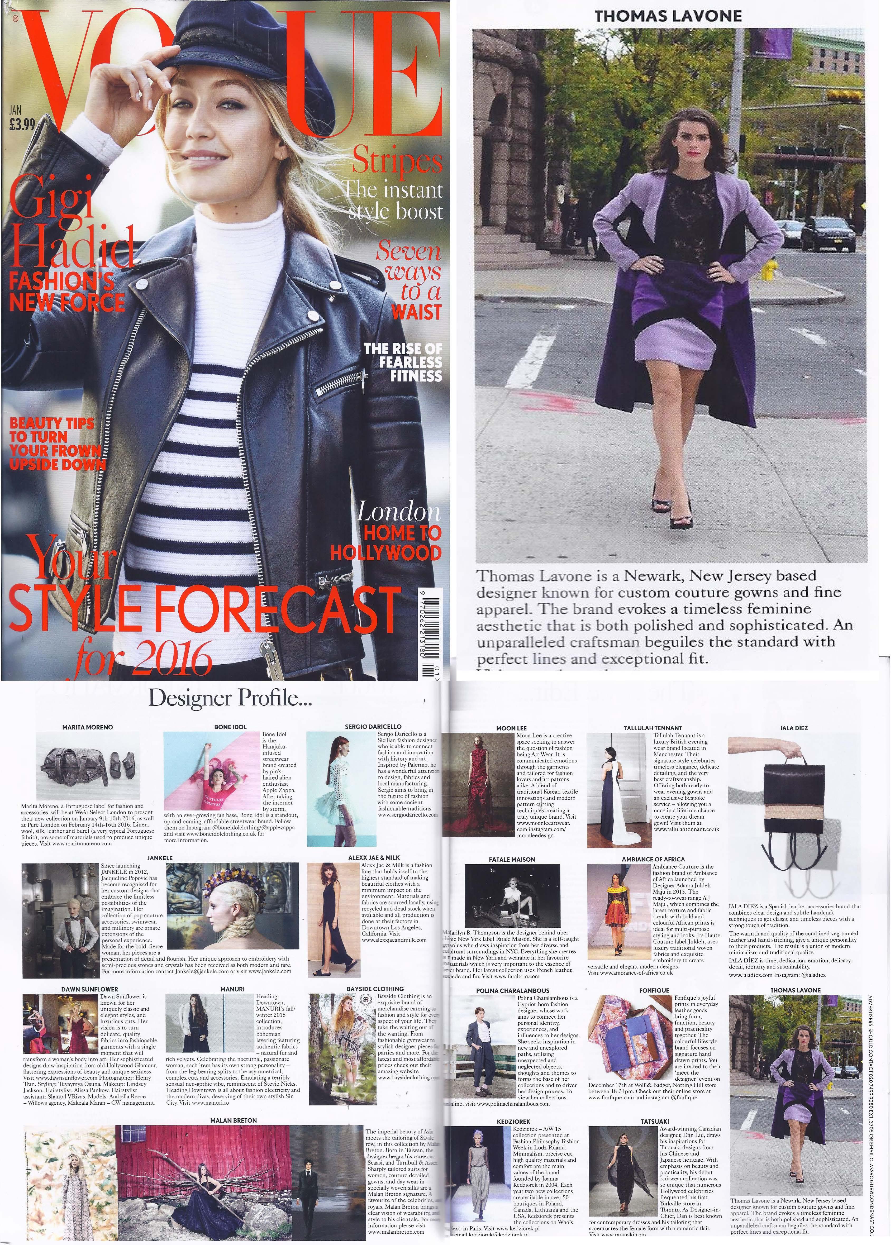 Vogue jan 2016 UK cover