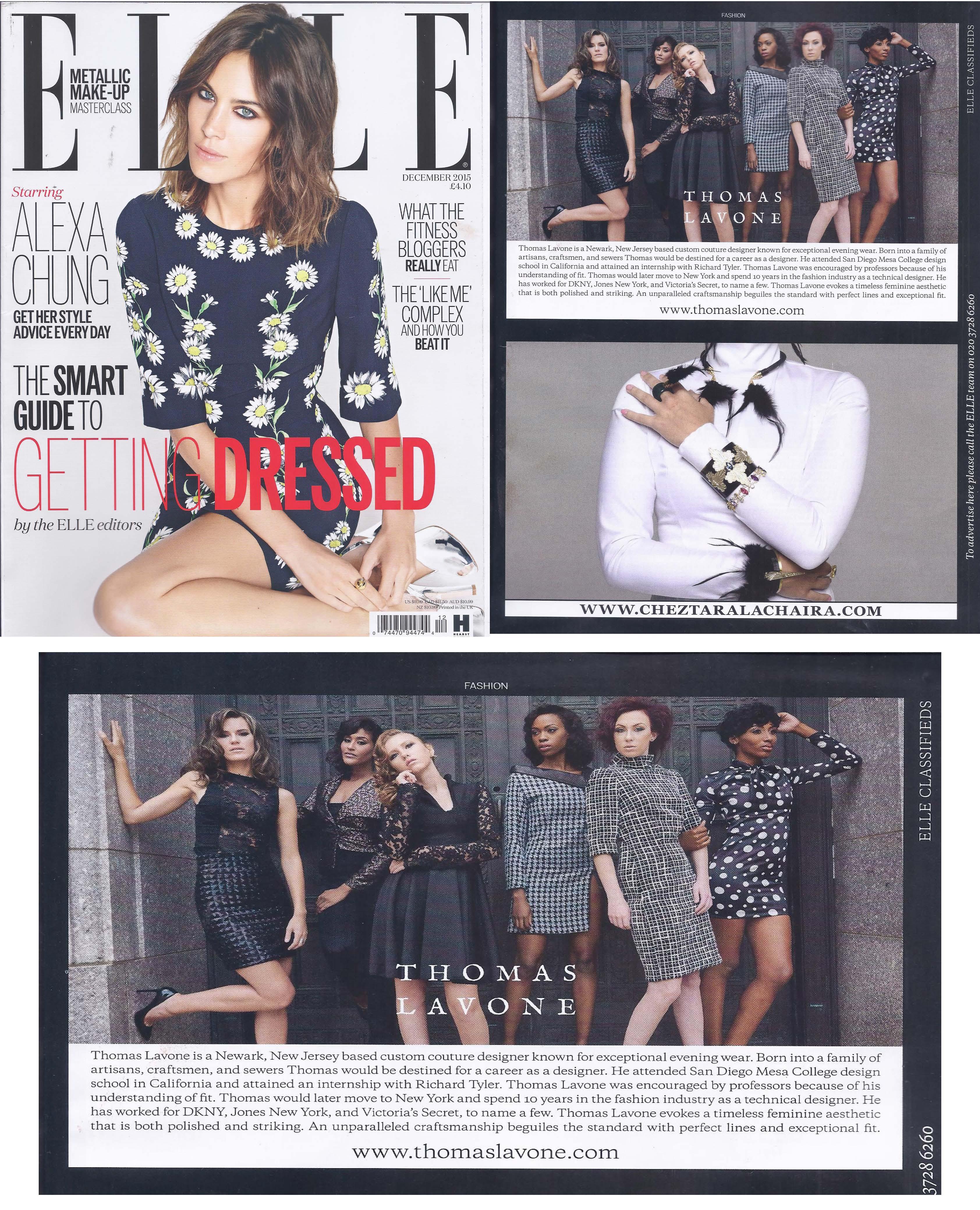 Elle UK Dec 2015
