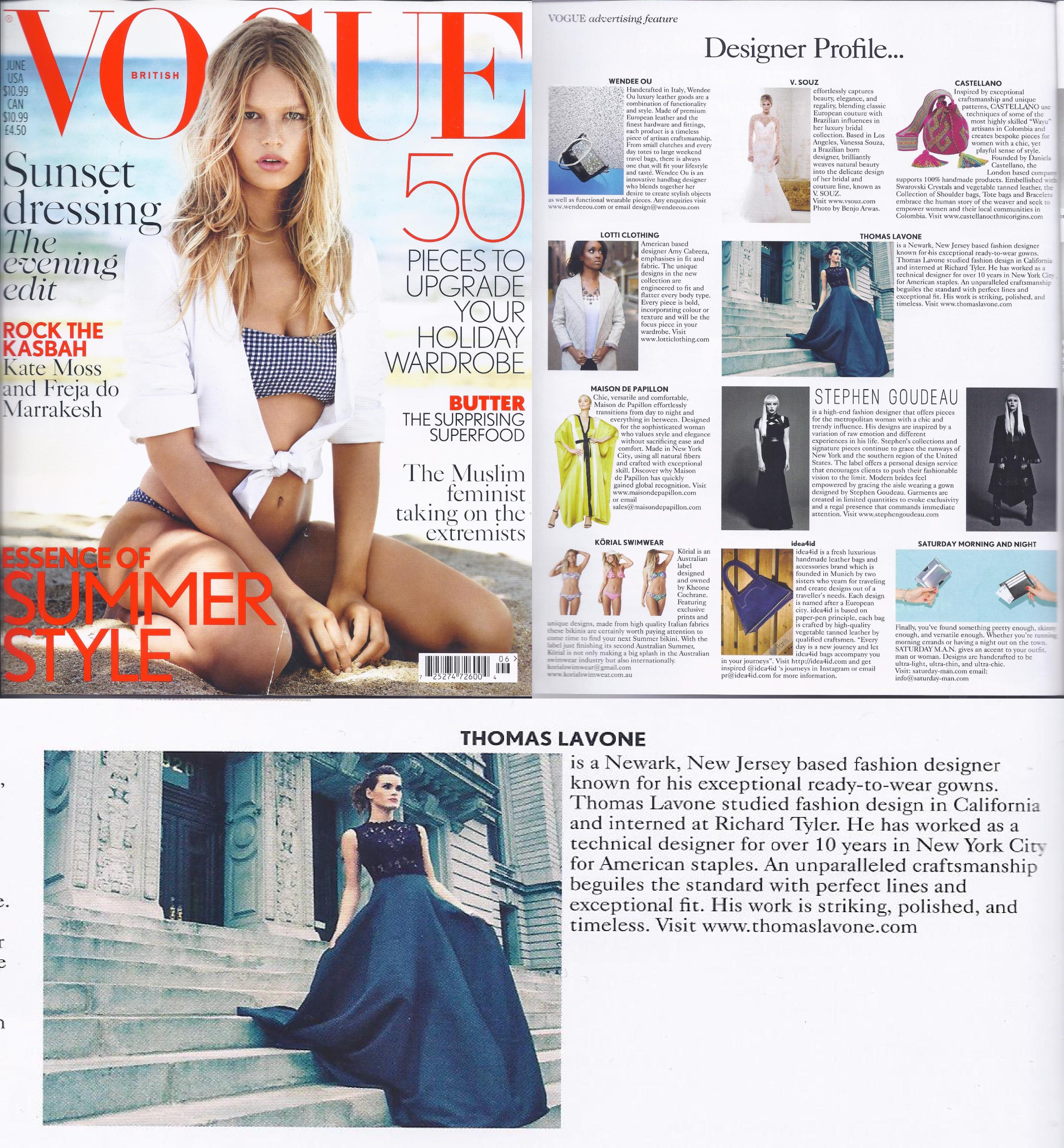 Vogue June 2015 UK