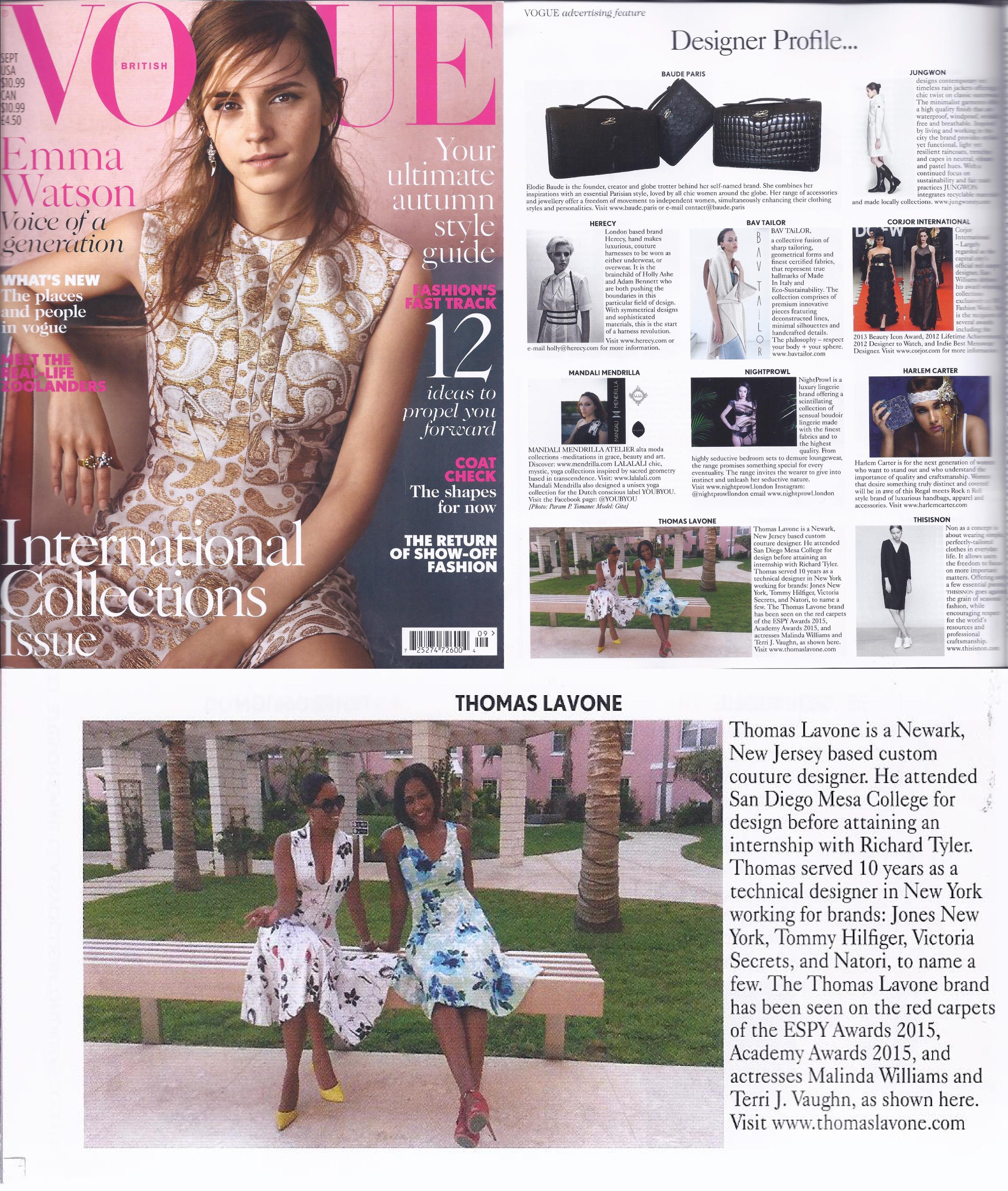 Thomas LaVone Vogue Sept 2015 UK