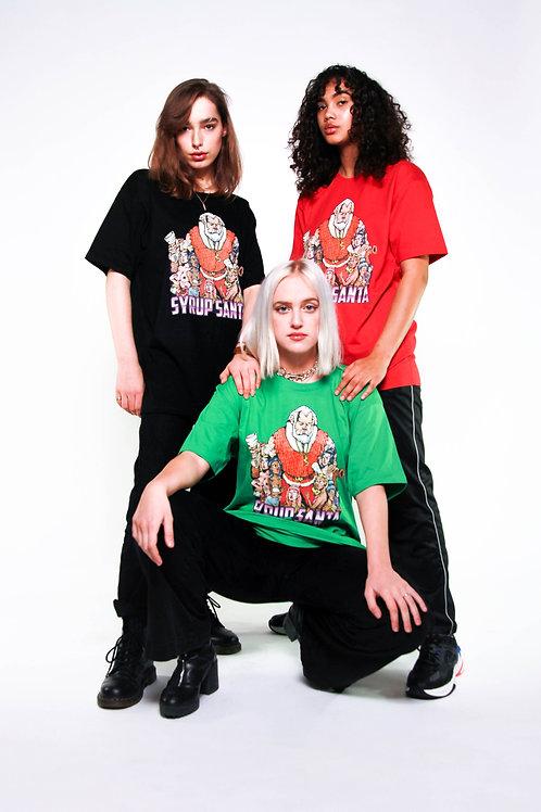 Syrup Santa Unisex T-Shirt (Black)