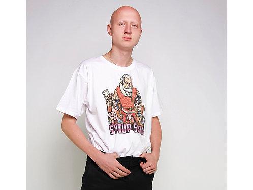 Syrup Santa Unisex T-Shirt (White)