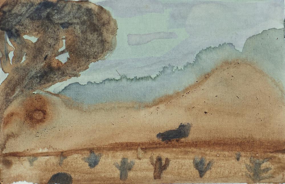 """Kristiina Hakalan kasvivärimaalaus """"Pitkä matka"""""""