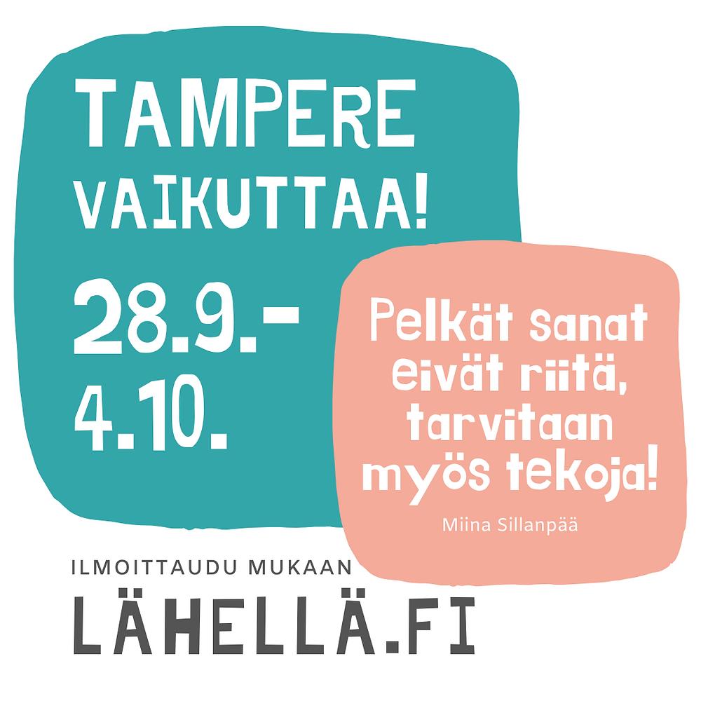 Tampere vaikuttaa viikon tunnuskuvia