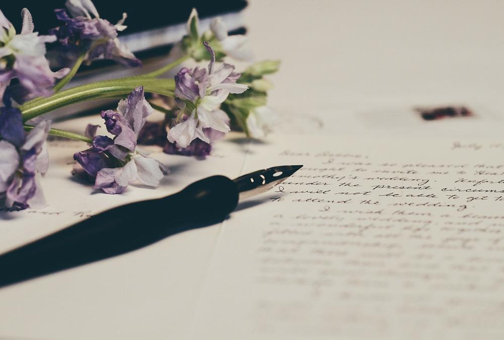 Kuvituskuva kirjoitetusta kirjeestä