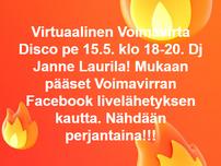 Suosittu Voimavirran virtuaalidisco 15.5. klo 18