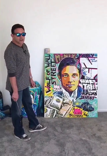 JORDAN BELFORT PAINTING BY ART VLADI