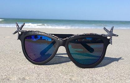 shelley sea shades, sea shelley designs, eyewear art, mermaid fashion, i wear art, woodzee, sunglasses