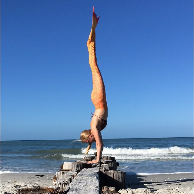 Whether you are swimming or handstanding, being a mermaid works on your core