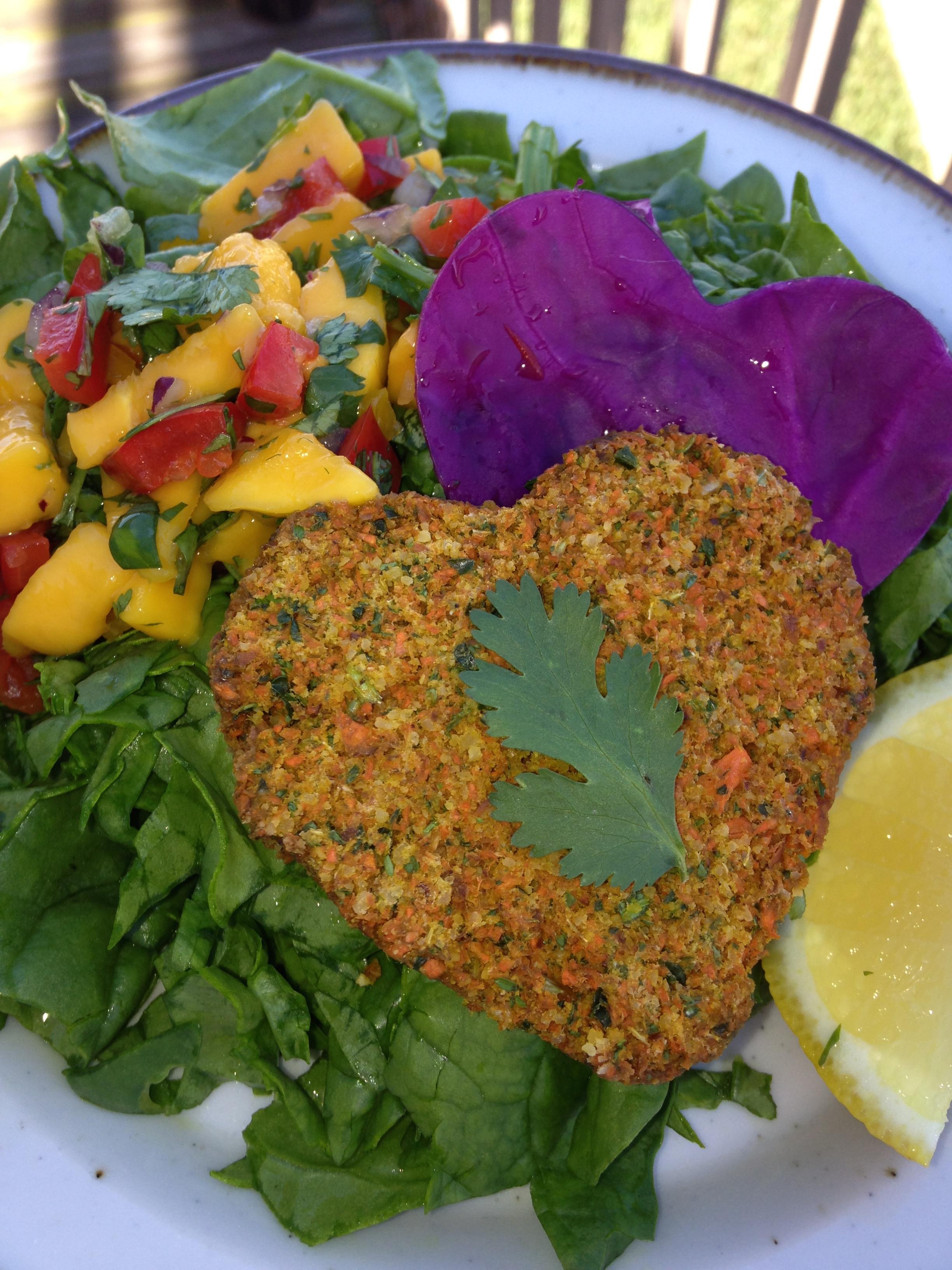 Raw Vegan Salmon Patty