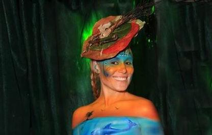 sea shelley fascinator, plant-based fashion, fantasy fest, tony gregory, key west