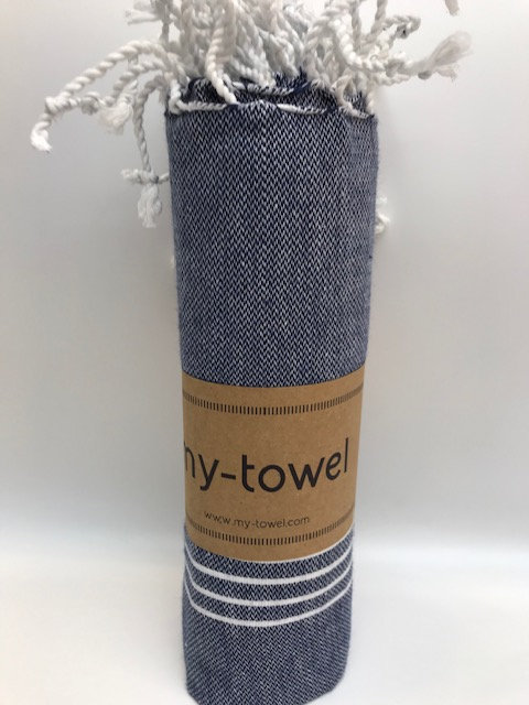 my-towel Hamamtuch Marine Blau