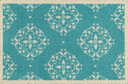 Fußmatte  Marokko türkis waschbar