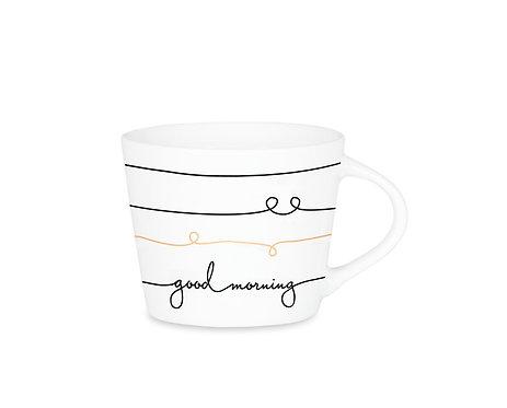 Espresso-Tasse Schreibkram Manufaktur Good morning