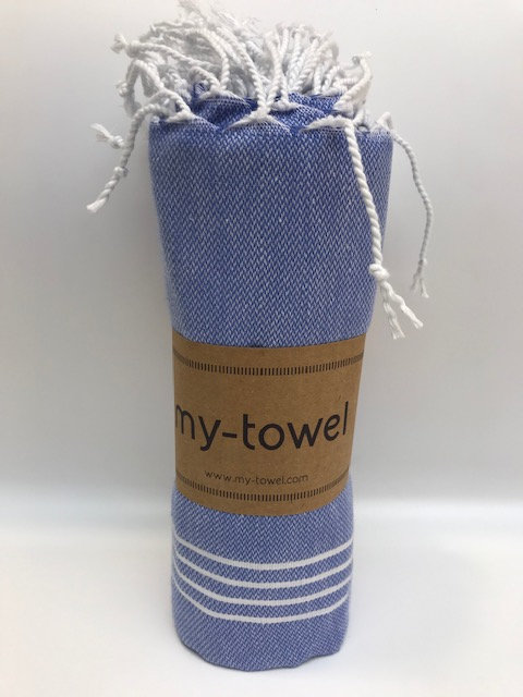 my-towel Hamamtuch washed Blue