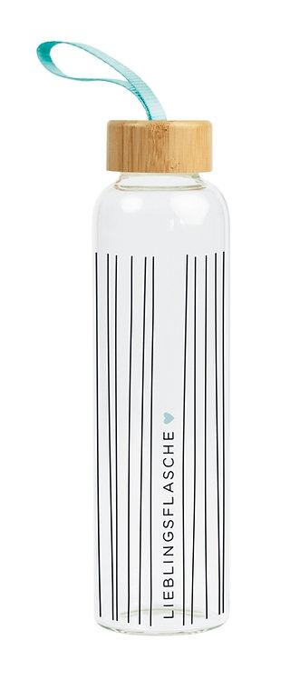 Glas-Trinkflasche Lieblingsflasche