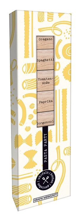 Rezept Holzwürfel Box Pasta Party