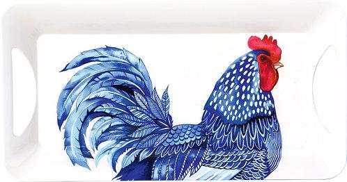 Frühstückstablett Blue Plumage