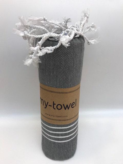 my-towel Hamamtuch dunkelgrau