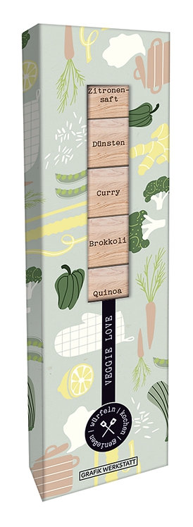 Rezept Holzwürfel Box Veggie Love