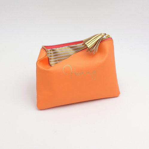 Mäppchen Hooray, orange, Kunststoff/Polyester, 22,5x15,5 cm
