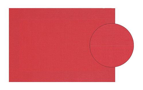 Platzset in rot, fein, aus Kunststoff