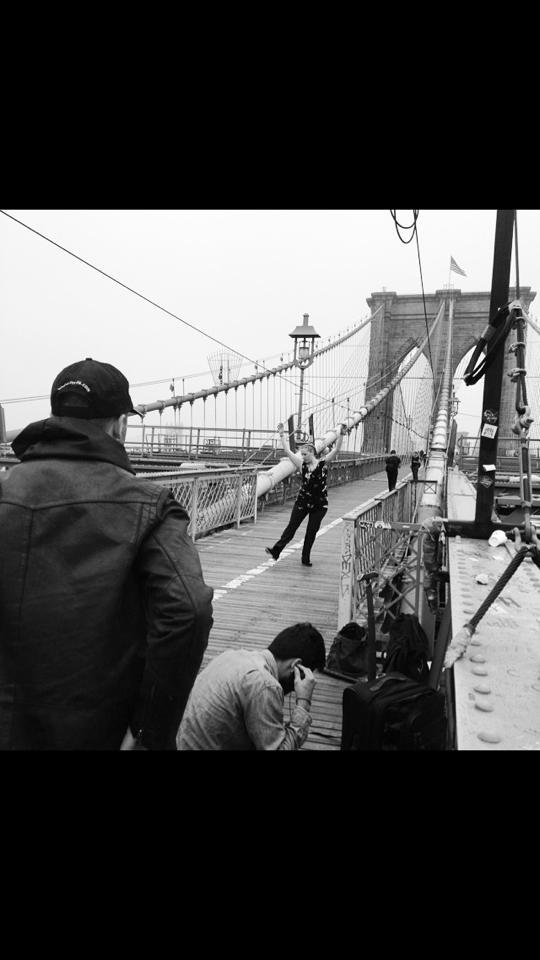 """Brooklyn Bridge - Filming """"Rhythm"""""""