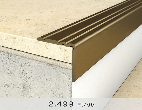 PF 10 Öntapadós lépcsőprofil 20 x 25 mm Bronz 0,9 m