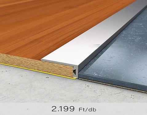 PF 6 Öntapadós lezáró profil 8 x 20 mm Titán 0,9 m