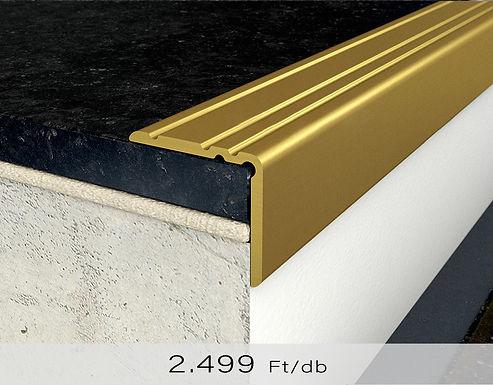 PF 10 Öntapadós lépcsőprofil 20 x 25 mm Arany 0,9 m