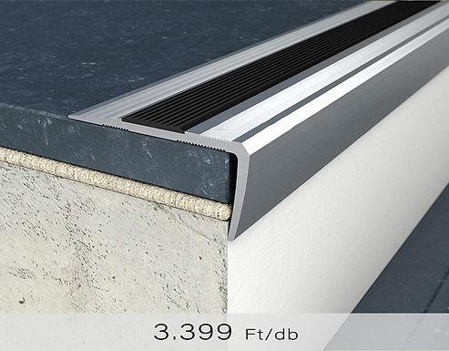 PF 12 Csavaros lépcsőprofil öntapadós gumibetéttel 18 mm x 38 mm Ezüst 0,9 m