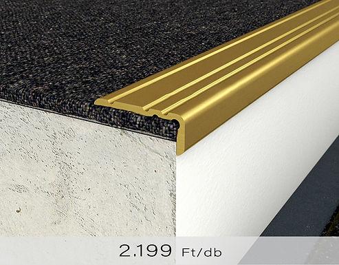 PF 8 Öntapadós lépcsőprofil 10 x 25 mm Arany 0,9 m