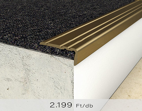 PF 8 Öntapadós lépcsőprofil 10 x 25 mm Bronz 0,9 m