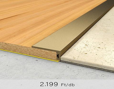 PF 6 Öntapadós lezáró profil 8 x 20 mm Bronz 0,9 m