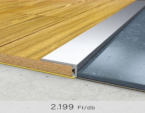 PF 6 Öntapadós lezáró profil 8 x 20 mm Ezüst 0,9 m