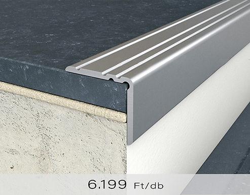 PF 10 Öntapadós lépcsőprofil 20 x 25 mm Ezüst 2,7 m