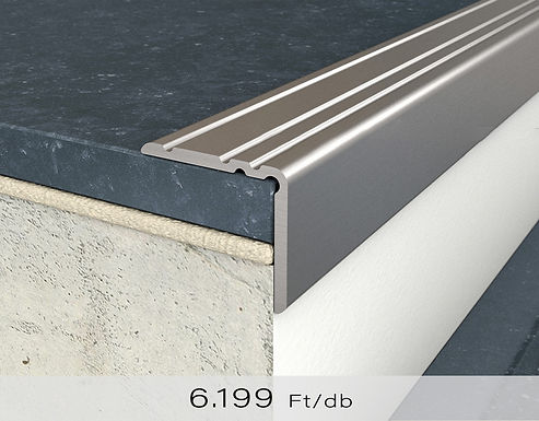 PF 10 Öntapadós lépcsőprofil 20 x 25 mm Titán 2,7 m