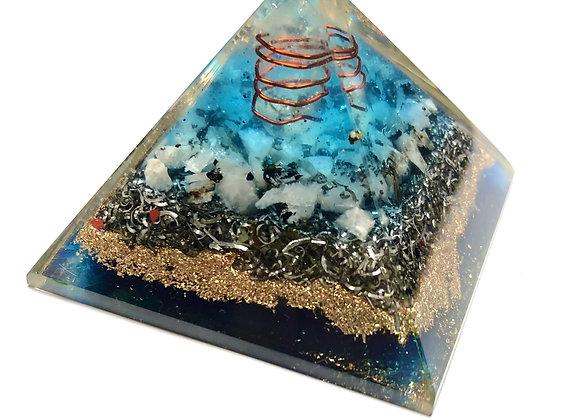 Blue Orgonite Pyramid