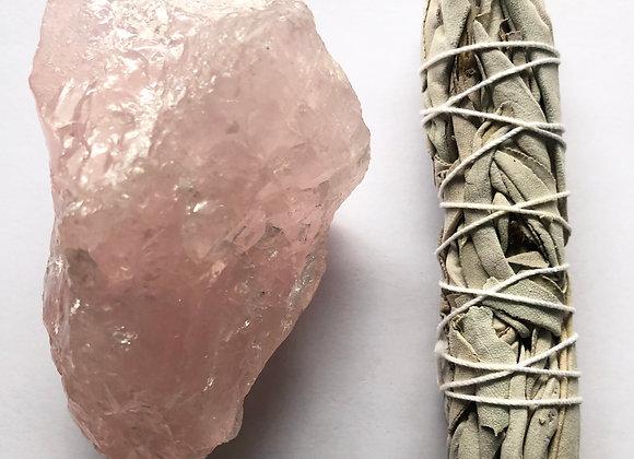 Rose Quartz and Sage kit